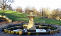 Fountain in Queen's Park in Winter Sunshine  (1) (Large)