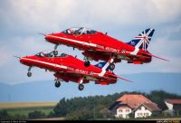 The famous red arrows