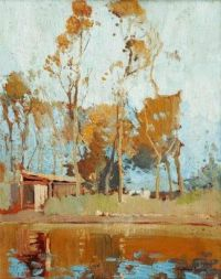 Syd Long Landscape with pond