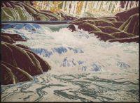 White Falls, Franklin Carmichael, serigraph