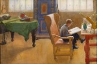 "Carl Larsson, ""Esbjorn at the Study Corner"""