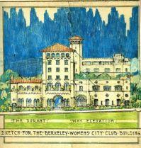 "Julia Morgan drawing for ""The Berkeley Womens City Club"" ca.1928."