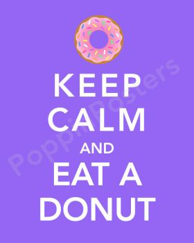 kepp calm and have a donut