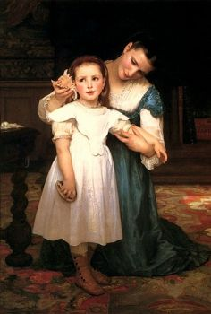 W B GIRL LISTENING TO SHELL, 1875