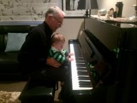 Playing the piano with Grandad