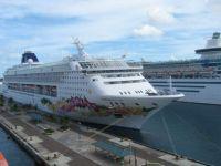 Cruise Ships in Port, Nassau, The Bahamas