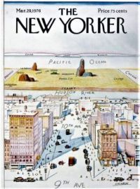 """The New Yorker - March 12, 1979 / Cover art by Saul Steinberg - """"View of the World from 9th Avenue"""""""