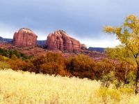 Autumn colors in Red Rock State Park, Arizona