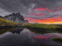 Sunrise at Stokksnes peninsula in Iceland