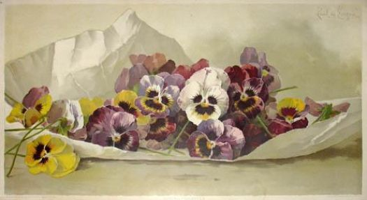 Pansies by George Dunlop Leslie