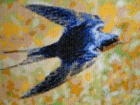 BARN SWALLOW (CROSS STITCHES)