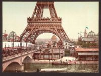 Eifel Tower, Paris circa 1900. Photochromatic image.