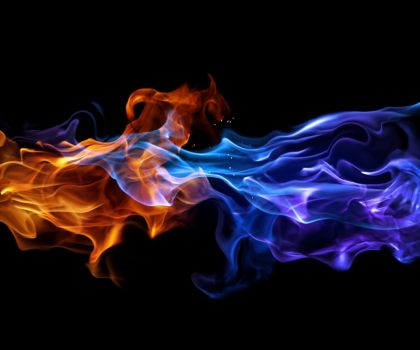 Red And Blue Flame