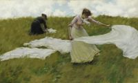 Charles Courtney Curran--A Breezy Day, 1887