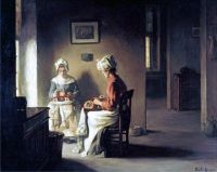 Claude Joseph Bail (1862 - 1921) - Seamstresses In An Interior
