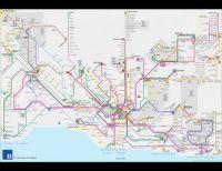 Public Transport Map of Lausanne Area, Switzerland