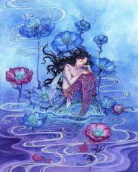 watercolor mermaid  Meredith Dillman   overstock