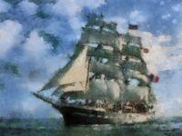 French sailing ship