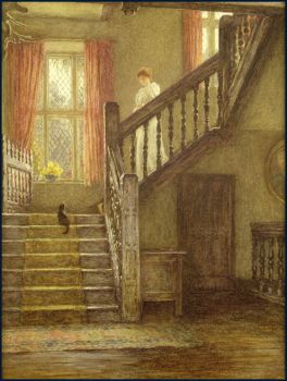Staircase by Helen Allingham