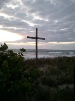 Easter sunrise service at the beach