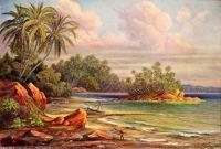 Cocos-Insel bei Belligemma (Gan-Duva) Ceylon, 1905