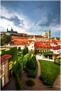 Czech Prague Storm over Vrbatovsky Garden