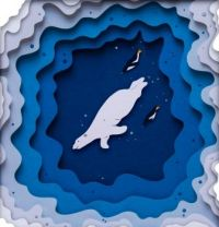 Polar Bear Paper Art by Sarah Dennis