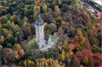 The Wallace Monument from the air