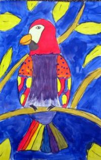 Taylor's  painted tropical bird