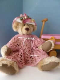 Elizabeth Teddy dressed for Easter