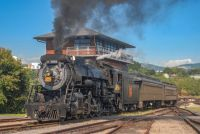 CN 3254 out in the afternoon sun at Steamtown stretching her legs.