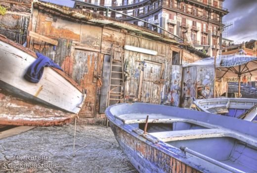 Naples old fishing sheds