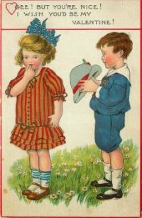 Themes Vintage illustrations/pictures - Valentine Card 1914