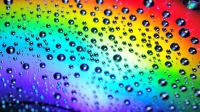 waterdrops and rainbow colors