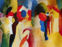 With yellow jacket ~ August Macke (m)