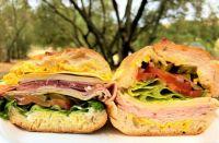 Deli sandwiches from the local market