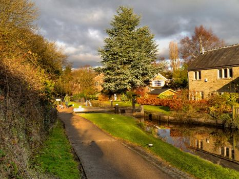 Peak Forest Canal, Marple, Stockport,  Photo by David Dixon