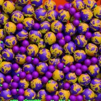 Purple and orange balls