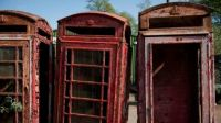 Derelict Red Telephone Boxes