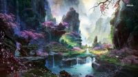 14350-chinese-town-in-the-mountains-1366x768-fantasy-wallpaper