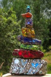 Backyard Mosaic Sculpture