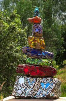 Backyard Mosaic Sculpture