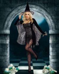 beautiful witch in black