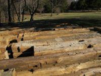 hand hewn barn logs