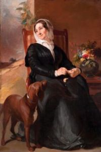 Thomas Sully (American, 1783–1872), Sarah Sully and Her Dog, Ponto (1848)