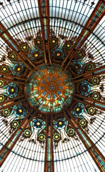 glass dome, Galeries Lafayette, Paris, France