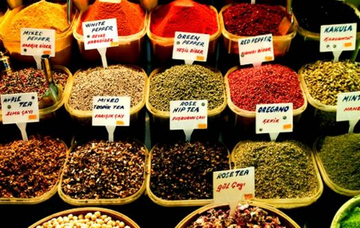 places I visited - spices at egyptien bazar - Istanbul