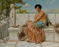 John William Godward - Reverie(In the Days of Sappho) - c. 1904