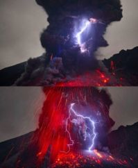 volcanic electrical phenomenon