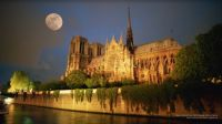 Moon Rising Over Notre Dame